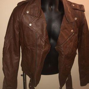 HUGOEDGE Jackets & Coats - New Men's Slim fit   Motorcycle pu  Leather Jacket